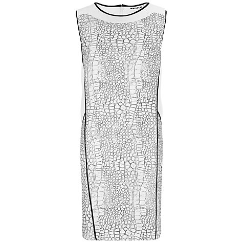 Buy Whistles Dragon Skin Dress, Black Online at johnlewis.com