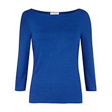 Buy Hobbs Sonya Top, Brilliant Blue Online at johnlewis.com