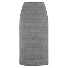 Buy Hobbs Katherine Skirt, Black/Ivory Online at johnlewis.com