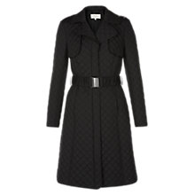 Buy Hobbs Worcester Coat, Deep Black Online at johnlewis.com