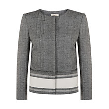Buy Hobbs Katherine Jacket, Black/Ivory Online at johnlewis.com