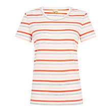 Buy Hobbs Karen T-Shirt, Coral Multi Online at johnlewis.com