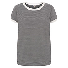 Buy Hobbs Naomi Jumper, Black/Ivory Online at johnlewis.com