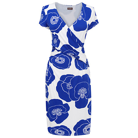 Buy Phase Eight Claudia Dress, Periwinkle/White Online at johnlewis.com
