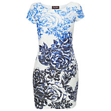 Buy Phase Eight Tracey Floral Tunic Dress, Periwinkle/White Online at johnlewis.com