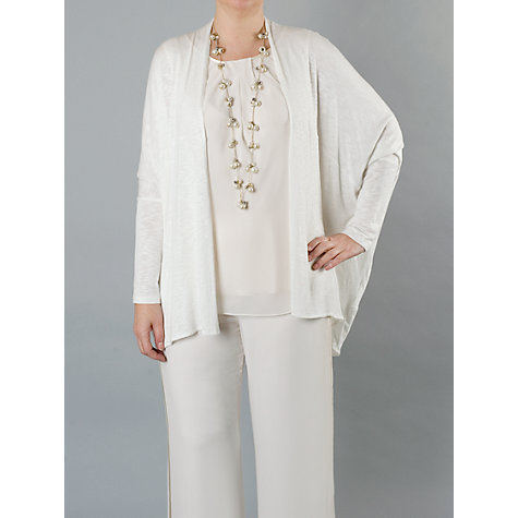 Buy Chesca Jersey Cardigan, Ivory Online at johnlewis.com