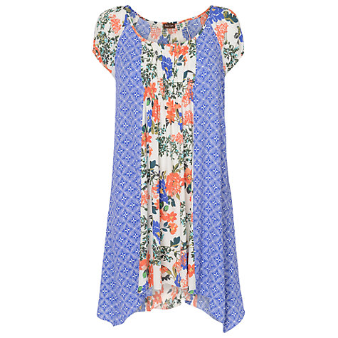 Buy Phase Eight Michaela Floral And Print Mix Tunic Dress, Periwinkle/White Online at johnlewis.com