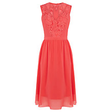 Buy Warehouse Soft Lace Prom Dress, Bright Pink Online at johnlewis.com