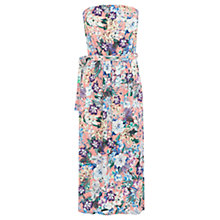 Buy Warehouse Floral Bandeau Midi Dress, Multi Online at johnlewis.com
