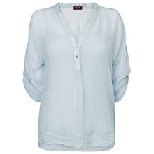 Buy Phase Eight Kay Silk Shirt, Ice Blue Online at johnlewis.com