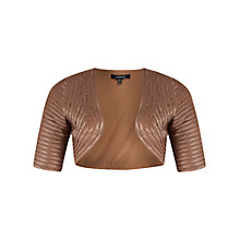 Buy Chesca Montique Lace Bolero, Mocha Online at johnlewis.com