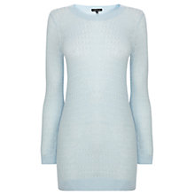 Buy Warehouse Pointelle Jumper, Light Blue Online at johnlewis.com