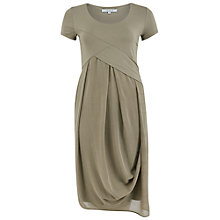 Buy Chesca Jersey Print Chiffon Dress, Khaki Online at johnlewis.com