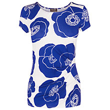 Buy Phase Eight Claudia Top, Periwinkle/White Online at johnlewis.com