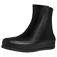 Buy FitFlop DuéBoot™ Leather Chelsea Boots, Black Online at johnlewis.com