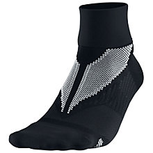 Buy Nike Elite Hyper-Lite Quarter Running Socks, Black Online at johnlewis.com
