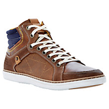 Buy Dune Sebastian Leather and Cord Hi-Top Trainers Online at johnlewis.com