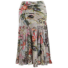 Buy Chesca Fern Print Skirt, Silver Grey/Multi Online at johnlewis.com