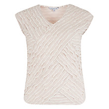Buy Chesca Striped Fancy Jersey Camisole, Beige Online at johnlewis.com