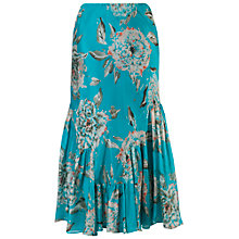 Buy Chesca Floral Print Skirt, Turquoise Online at johnlewis.com