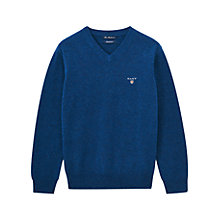 Buy Gant Boys' V-Neck Jumper Online at johnlewis.com