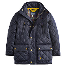 Buy Little Joule Boys' Foxton Quilted Jacket, Navy Online at johnlewis.com