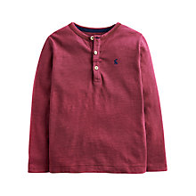 Buy Little Joule Boys' Feldon Jersey Top, Berry Online at johnlewis.com
