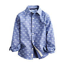 Buy Little Joule Boys' Repeat Car Print Shirt, Blue Online at johnlewis.com