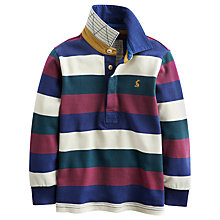 Buy Little Joule Boys' Woodrow Striped Rugby Shirt, Multi Online at johnlewis.com