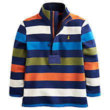 Buy Little Joule Boys' Captain Half-Zip Stripe Sweatshrt, Multi Online at johnlewis.com