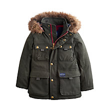 Buy Little Joule Boys' Tavish Padded Coat, Olive Green Online at johnlewis.com