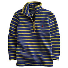 Buy Little Joule Boys' Dale Striped Half Zip Sweatshirt Online at johnlewis.com