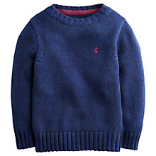Buy Little Joule Boys' Wallace Jumper, Navy Online at johnlewis.com