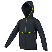 Buy Adidas Boys' Full Zip Messi Hoodie, Navy/Grey Online at johnlewis.com
