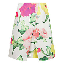 Buy Ted Baker Isabeli Floral Printed Skirt, Cream Online at johnlewis.com