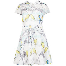 Buy Ted Baker Burddy Colourful Canary Print Dress, White Online at johnlewis.com
