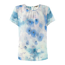Buy Jigsaw Watercolour Print Top, Blue Online at johnlewis.com