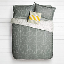 Buy House by John Lewis Elevation Duvet Cover and Pillowcase Set, Steel Online at johnlewis.com