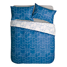 Buy House by John Lewis Elevation Duvet Cover and Pillowcase Set, Blue Online at johnlewis.com