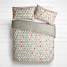 Buy House by John Lewis Triangles Duvet Cover and Pillowcase Set Online at johnlewis.com