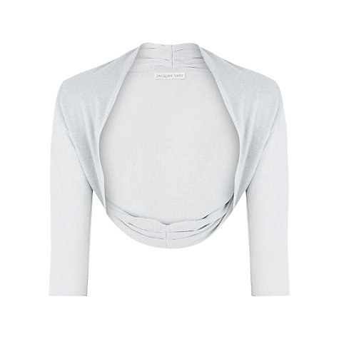 Buy Jacques Vert Lurex Knit Bolero, Silver Online at johnlewis.com