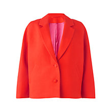 Buy Jigsaw Occasion Cropped Jacket, Orange Online at johnlewis.com