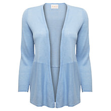 Buy East 3-Quarter Sleeve Linen Cardigan, Sky Online at johnlewis.com