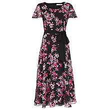 Buy Jacques Vert Soft Print Star Dress, Multi Hot Pink Online at johnlewis.com