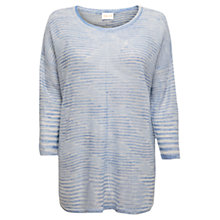Buy East Space Dye Oversized Jumper, Sky Online at johnlewis.com