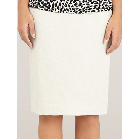 Buy Precis Petite Linen Pencil Skirt, Oyster Online at johnlewis.com