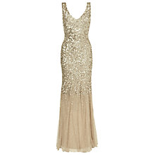 Buy Phase Eight Collection 8 Luna Sequin Dress, Gold Online at johnlewis.com