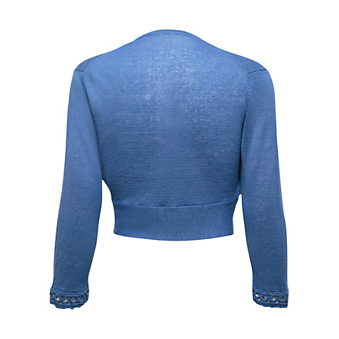 Buy East Broderie Shrug, Ocean Online at johnlewis.com