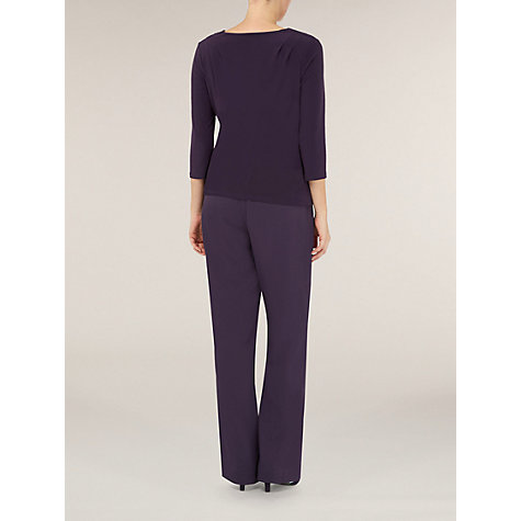 Buy Jacques Vert Ruched Cowl Jersey Top, Blackcurrant Online at johnlewis.com