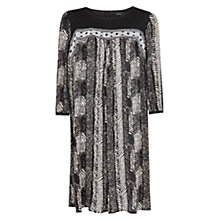 Buy Mango Monochrome Ethnic Dress, Black Online at johnlewis.com